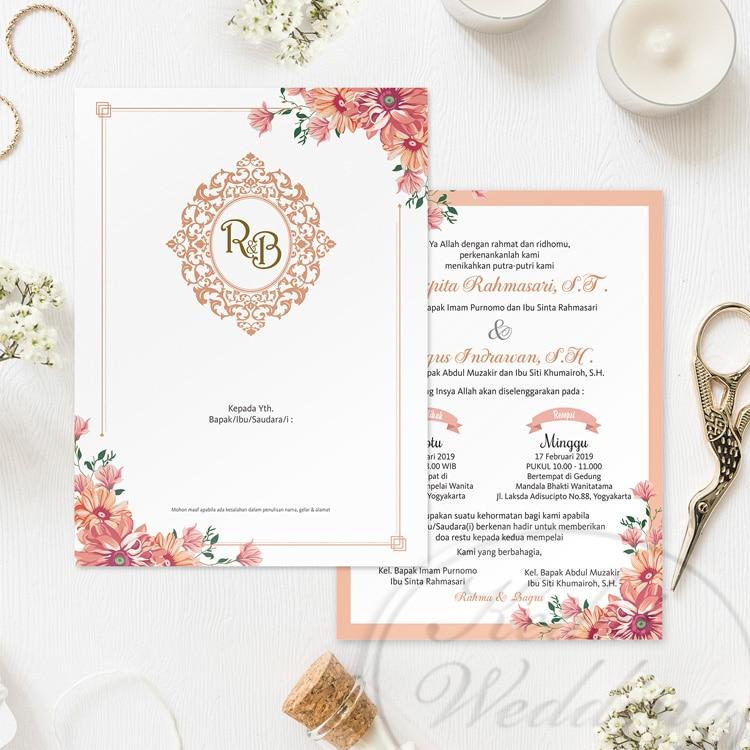 undangan pernikahan singlehardcover eklusif