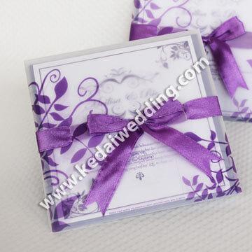 undangan pernikahan dengan kertas kalkir