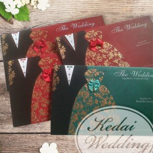 undangan pengantin tuxedo