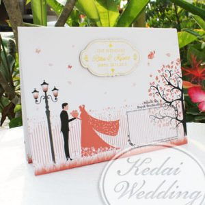 undangan pernikahan warna pink