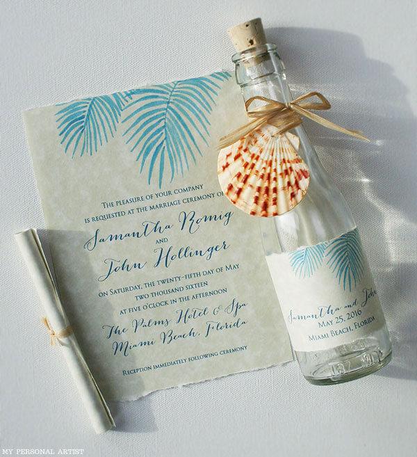 undangan pernikahan botol