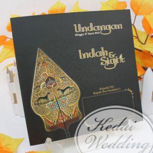 undangan pernikahan gunungan wayang