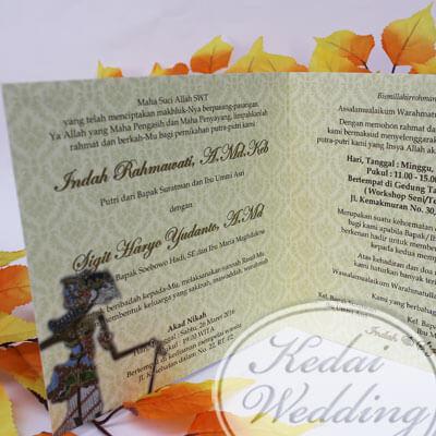 undangan pernikahan wayang jawa