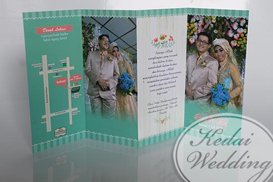 undangan pernikahan dengan foto prewedding