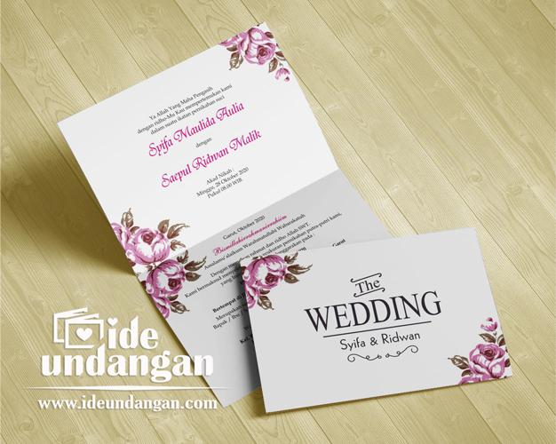 undangan pernikahan harga 2000