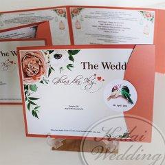 undangan pernikahan softcover warna peach unik murah
