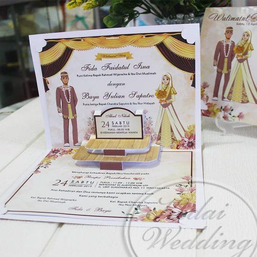 undangan pernikahan islami pop up unik