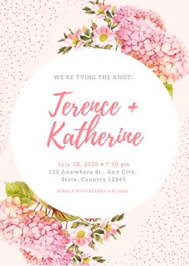 tema desain undangan pernikahan floral