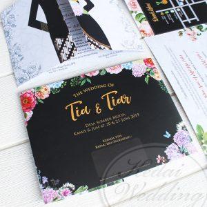 undangan pernikahan desain hitam cantik minimalis
