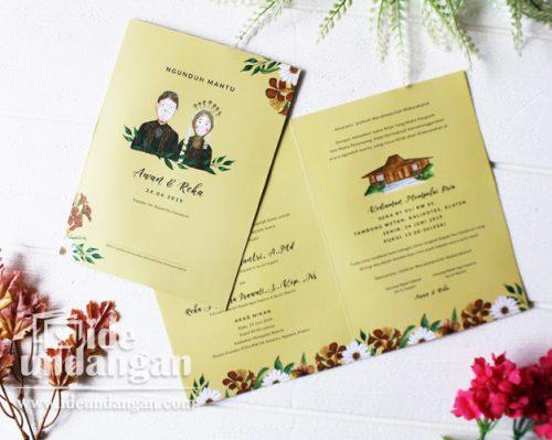 undangan pernikahan vintage jawa